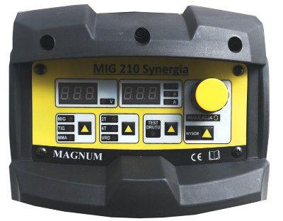 Nowoczesny panel spawarki Mig 210 Synergia