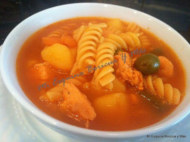 Sopa de pollo sencilla