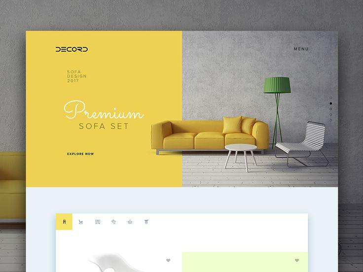 Decore Furniture  by Dipin Das #Design Popular #Dribbble #shots