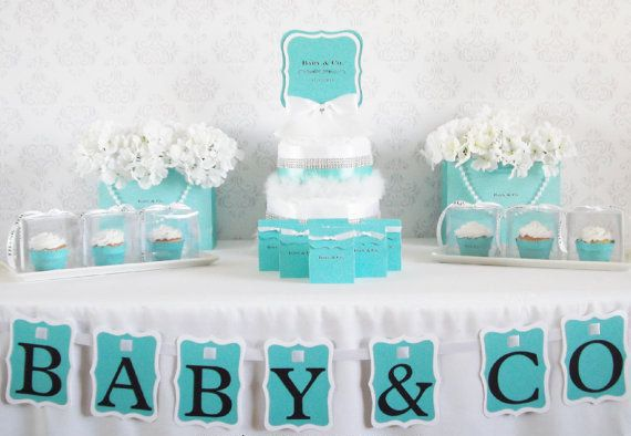 Tiffany and Co. Baby Shower available on Etsy