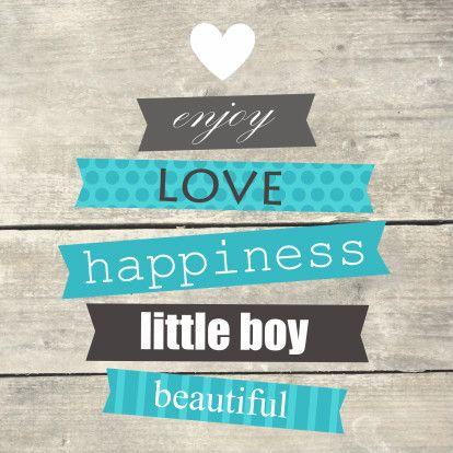 Houtprint met tekst, jongen - Felicitatiekaarten - Kaartje2go