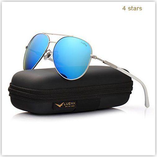 2b7160f040 LUENX Aviator Sunglasses Polarized Accessories