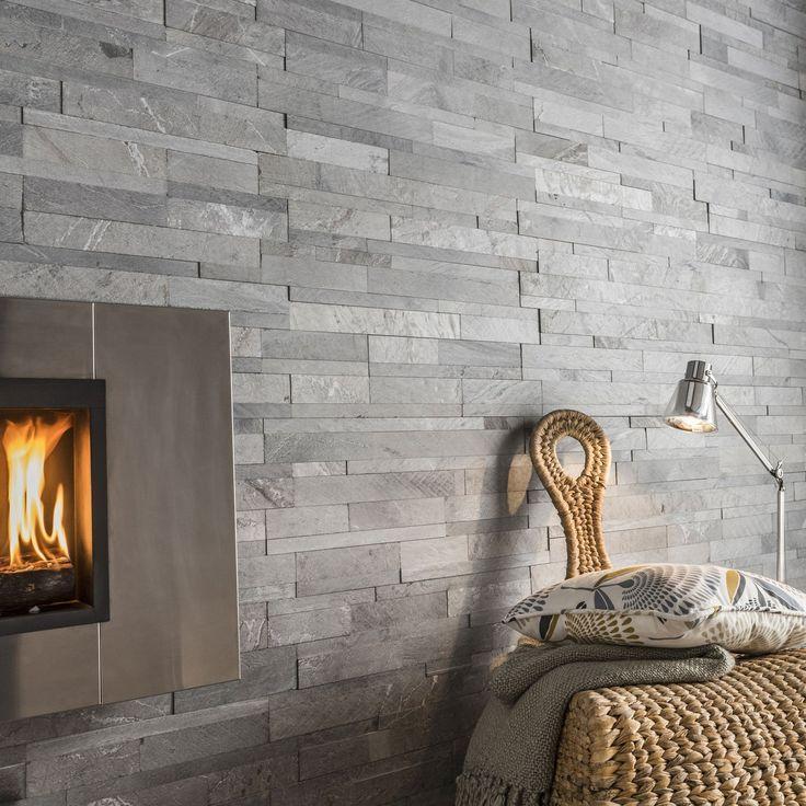Plaquette de parement pierre naturelle gris Loft | Leroy Merlin