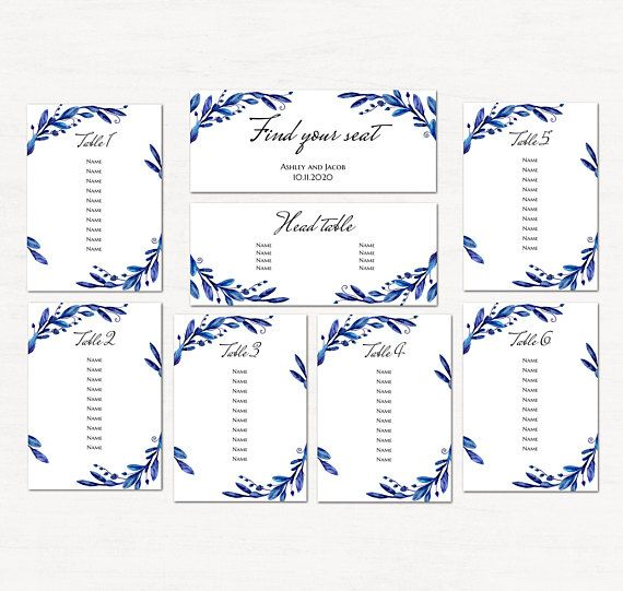 18 best Wedding seating chart images on Pinterest Table numbers - free wedding seating chart templates