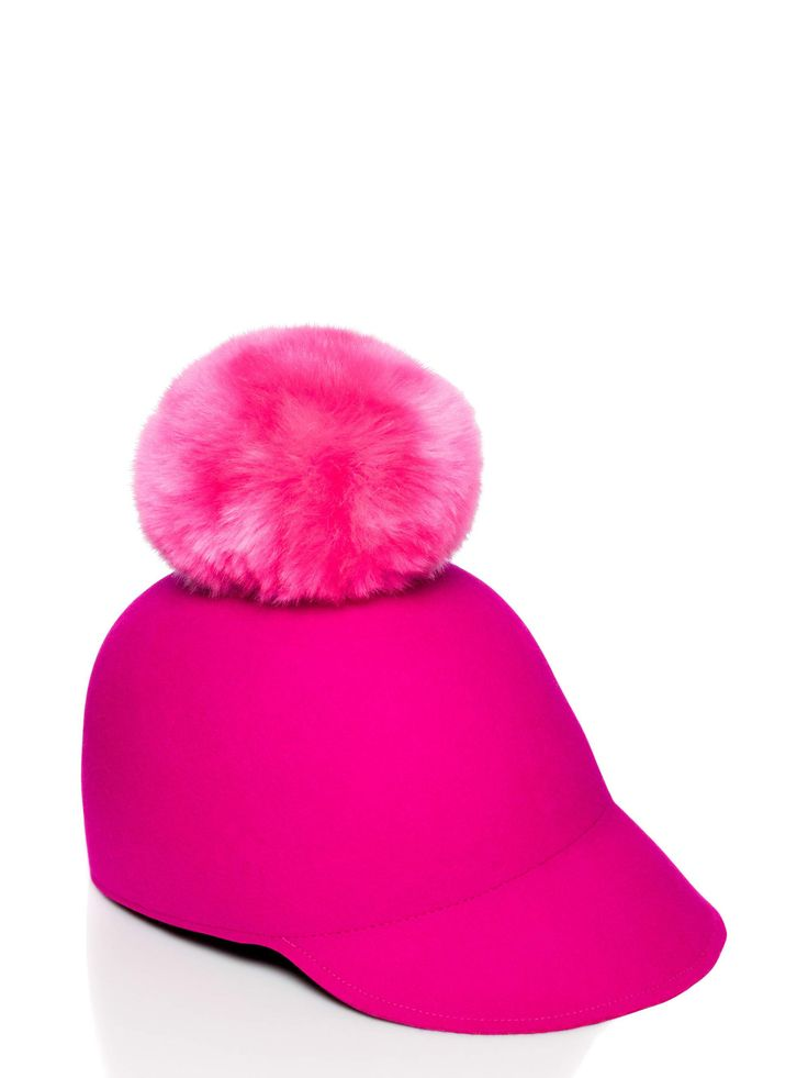 wool felt and a faux fur pom-pom give this sport-inspired cap a wintry feel; simultaneously cheeky and chic, it's a stylish way to keep your dome warm in cold weather.