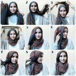 Tutorial Cara Memakai Hijab Modern wanita Turki