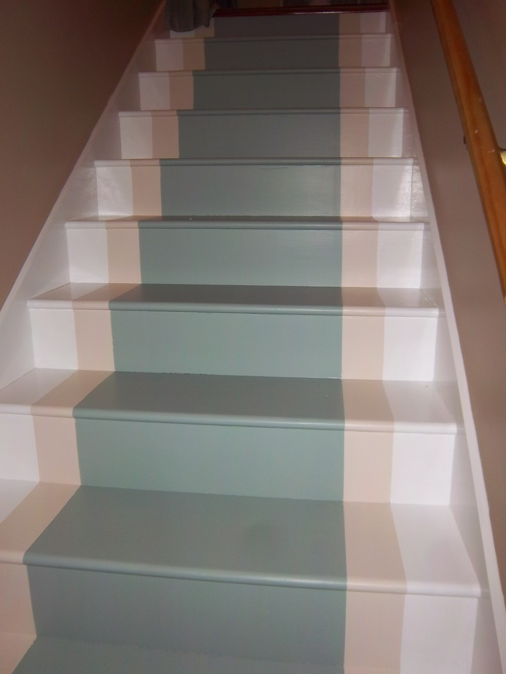 I Love My New Painted Runner! Only 4 Nights Of Work Transformed This Icky  Pine Stairs!