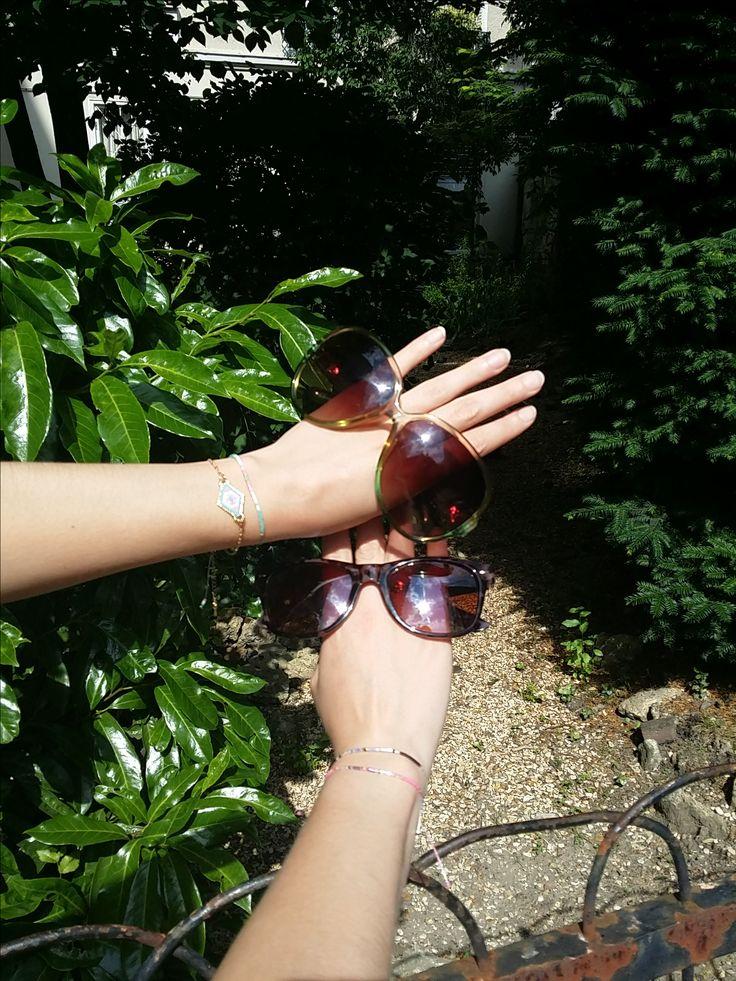 Bon, ce coup-ci on a choisi : ce sera les lunettes de soleil ! Maintenant... lesquelles ? #Crazydiams #sunglasses #becreative #toomuchsun #enfindusoleil #becrazy #japonais #perledeverre #garden #Paris #style #concept