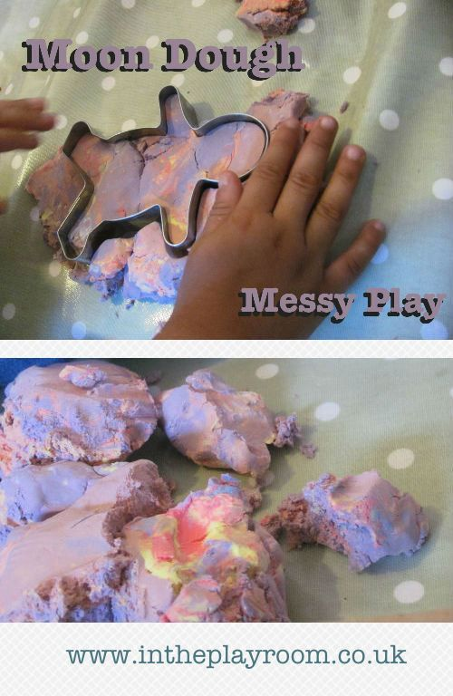 Moon Dough Messy Play | In The Playroom