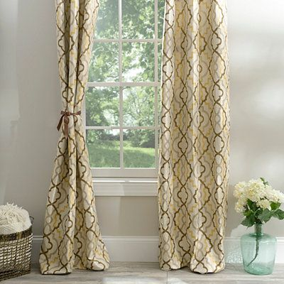 Marrakech Tan Curtain Panel Set, 96 in. | Kirklands