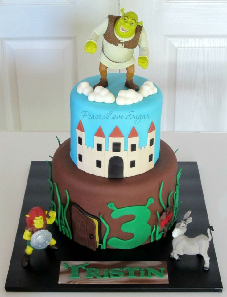 Shrek Cake!  Peace.Love.Sugar https://www.facebook.com/pages/PeaceLoveSugar/107504169339809?ref=hl
