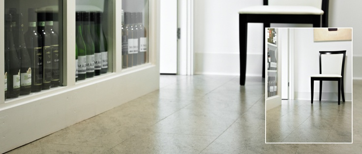 SIGNATURE - Moleanos Blue - A distinctive mottled limestone effect with subtle hints of grey and blue. Available from Rodgers of York #Interiors #Flooring