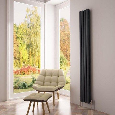 Milano Aruba Atre - http://www.bestheating.com/milano-aruba-ayre-aluminium-anthracite-vertical-designer-radiator-1800-x-230.html