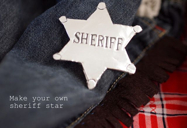 Cowboy gear part 1:  Make your own sheriff star
