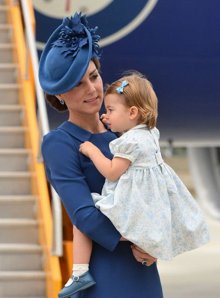 Kate Middleton Photos Photos - (L-R) Catherine, Duchess of Cambridge and Princess Charlotte of Cambridge arrive at Victoria International Airport on September 24, 2016 in Victoria, Canada. - 2016 Royal Tour to Canada of the Duke and Duchess of Cambridge - Victoria, British Columbia