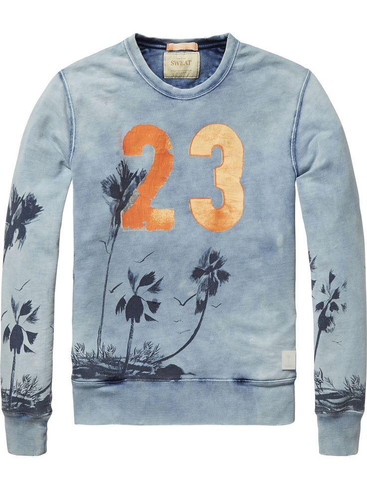 Printed Sweater |Sweat|Men Clothing at Scotch & Soda