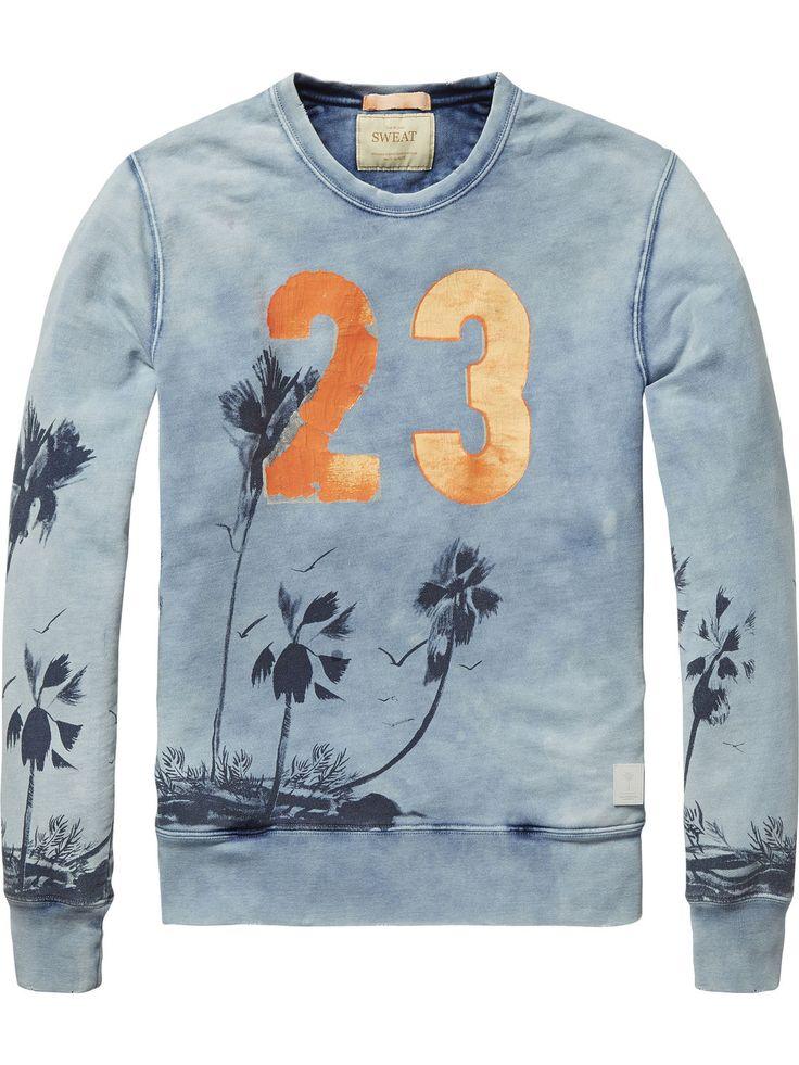 Sweater mit Print|Sweater|Herrenbekleidung von Scotch & Soda