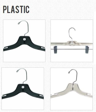 Plastic Hangers and Garment Storage Solutions - http://www.rollingracks.ca/store/c8/Plastic_.html