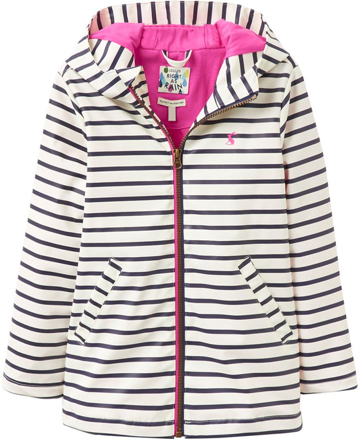 Joules Striped Hooded Coat