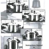 Mirro Pressure Cooker and Canner Instruction Manual and Recipe Booklet