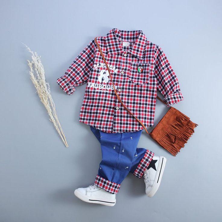 $36.33 (Buy here: https://alitems.com/g/1e8d114494ebda23ff8b16525dc3e8/?i=5&ulp=https%3A%2F%2Fwww.aliexpress.com%2Fitem%2Fbaby-boy-clothing-set-brand-autumn-2016-plaid-boy-baby-clothing-set-plaid-shirt-pant-plaid%2F32705793512.html ) baby boy clothing set brand autumn 2016 plaid boy baby clothing set plaid shirt+pant plaid kid baby clothing set for boy clothes for just $36.33