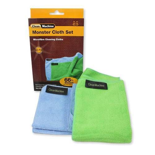 Make your life easier! These handy Monster cloths are made with a special blend of polymide & polyester which makes them ideal for any cleaning application - kitchen, bathroom, cars, general dusting, painting and sanding jobs, and more.