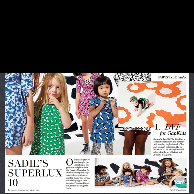 A piece on my daughter's #Superlux Sadie's 10 things on her radar this Spring 1 of 3 c/o @babystylemag