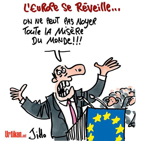 Immigration: l'UE connaît les solutions, mais manque de volonté - Dessin du jour - Urtikan.net