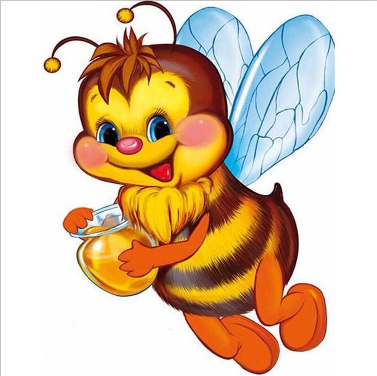 Картинки с изображением пчелок мультяшных для оформления группы