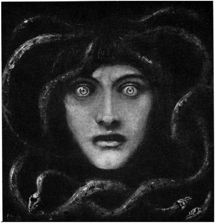 Cave to Canvas, Franz von Stuck, Medusa, 1892 (simply because I love Medusa stuff!)