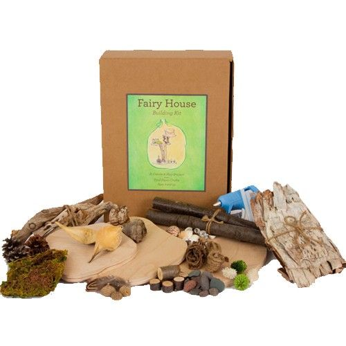 Clap if you believe in fairies!  Fairy House Building Kit. Includes everything needed to build a magical multi-level fairy hideaway. $49.95: Building Kits, Pies Piper, Fairies Trees, Fairies Houses Crafts, Trees Houses, Fairy Houses, Houses Building, Crafts Kits, Houses Kits