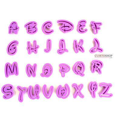 Emporte-pièces Alphabet Disney