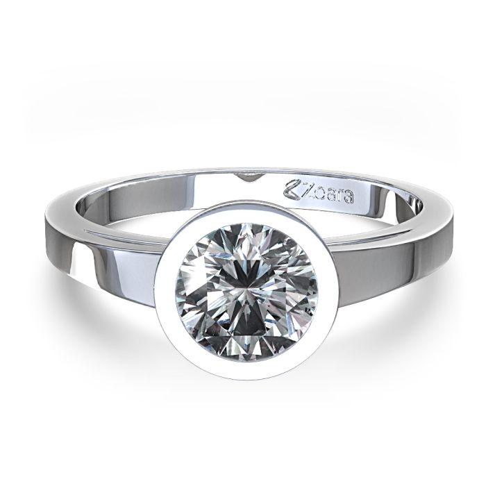 Bezel Set Engagement Rings With Wedding Band 4