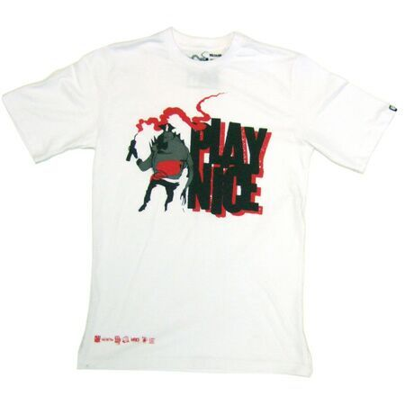 Stunning Men s Clothing Play Nice Play Logo White T Shirt Play Nice Play Logo