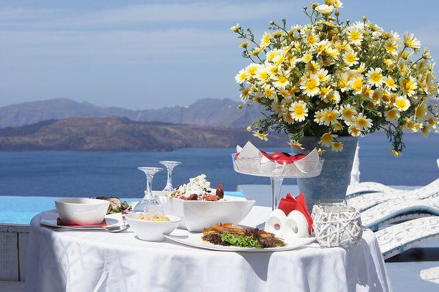 Easter dinner by the pool | Santorini @ Astarte Suites