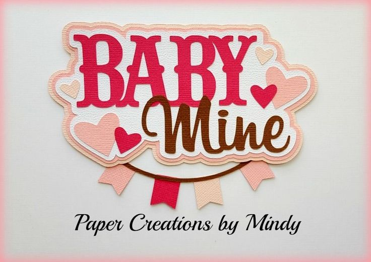 Craftecafe Mindy baby girl title premade paper piecing scrapbook page…