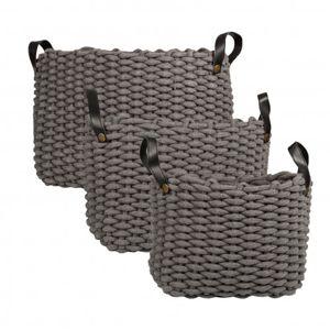 GENERAL ECLECTIC Nash Basket Grey Large