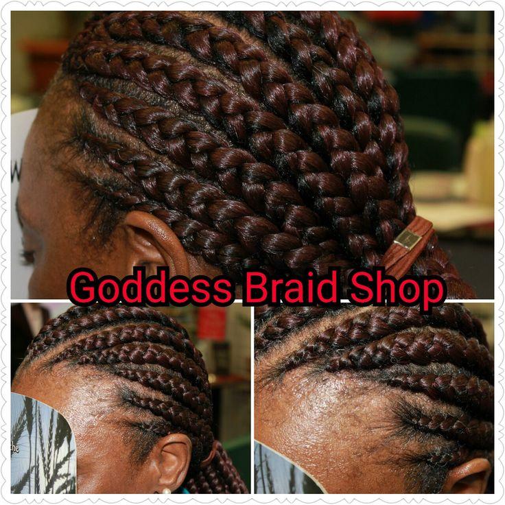 Cornrows at Goddess Braid Shop, St Petersburg FL. www.goddessbraidshop.com.