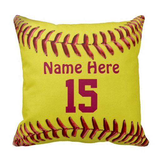 Softball Pillows for Girls Softball Room Themes