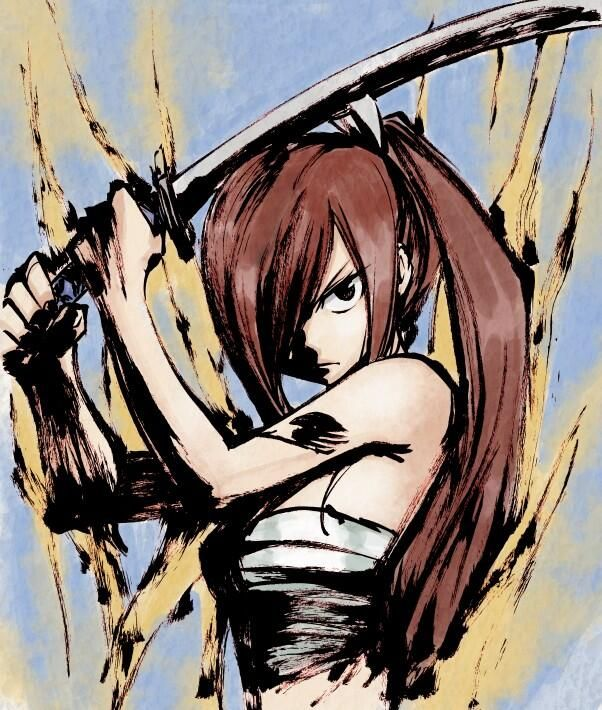 Fairy Tail | Erza.. I want to draw this too