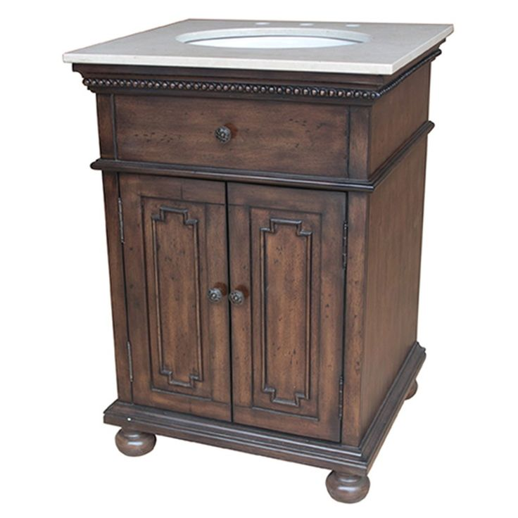 Awesome Websites Antique inch Single Sink Bathroom Vanity Cherry Brown Finish