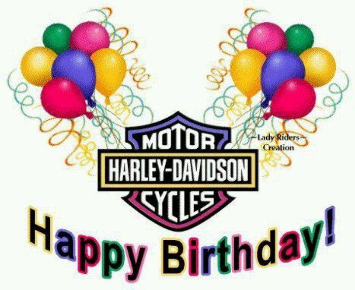 7 Best Harley Davidson Happy Birthfay Images On Pinterest Happy