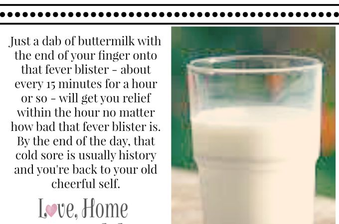 TOTALLY pain free within one hour - gone within 24 hours. #feverblister #coldsore #homeremedy   Best Cold Sore Treatment - Buttermilk