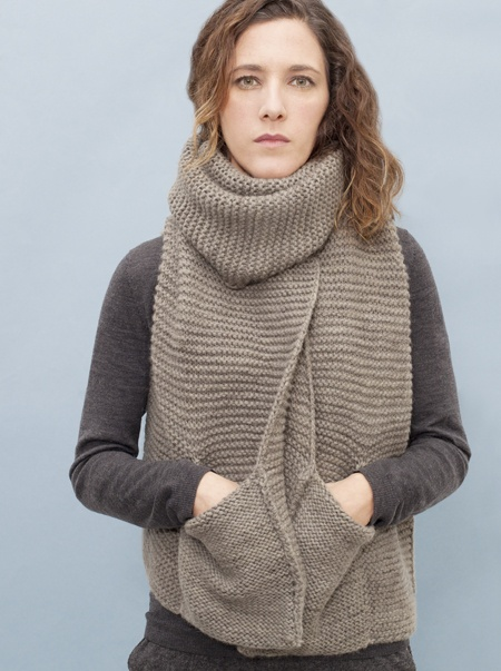 Knitting Pattern Scarf With Pockets : pocket scarf by knitbrary - Normally Im not crazy about ...