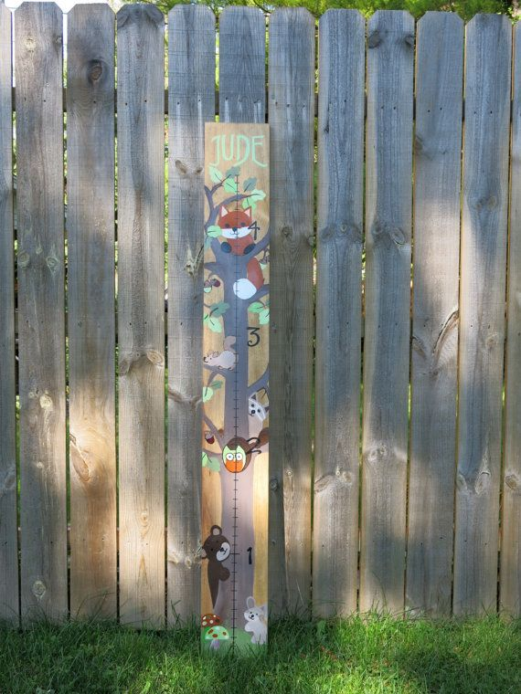 Hand Painted Woodland Creatures Growth Chart By Chilens On Etsy Charts