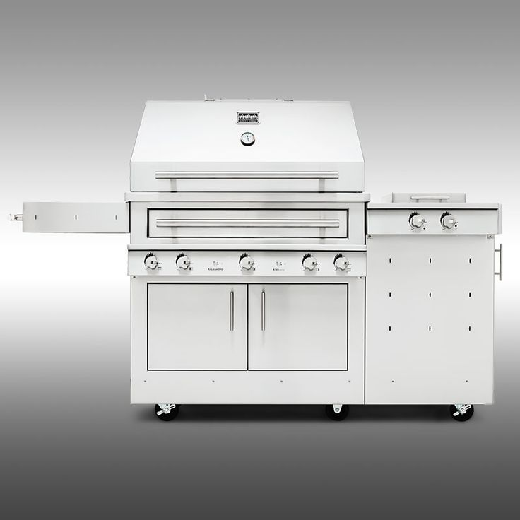 K750HS Hybrid Fire Freestanding Grill with Side Burner
