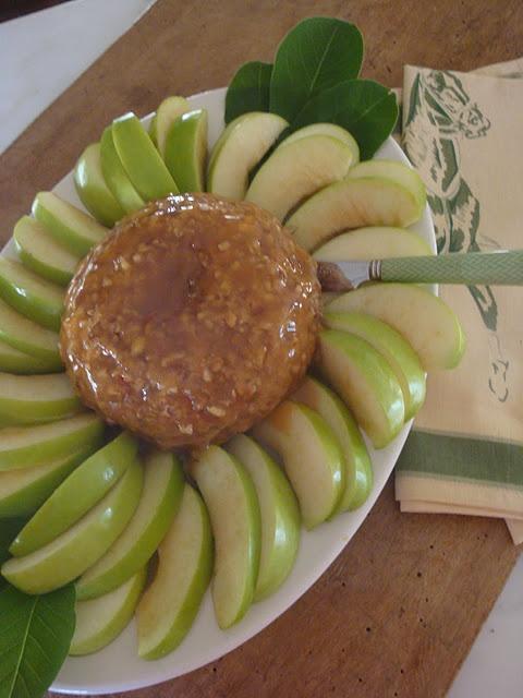 Caramel Apple Cheeseball.  Great idea although I'll make some adjustments :o)
