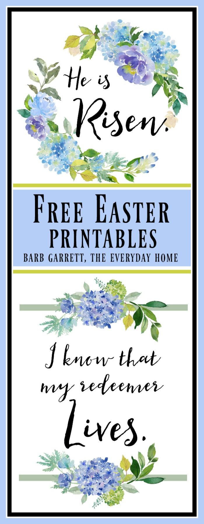 The Everyday Home offers more of her uniquely designed printables which are free for your personal use: two Easter Printables and a calendar.