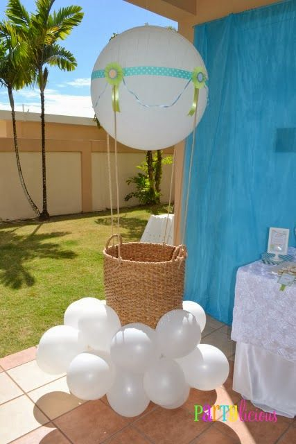 Up, Up, and Away Baby Shower! via #babyshowerideas4u #babyshowerideas Baby shower ideas for boy or girl