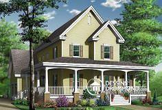 Plan de maison no. W3825 de dessinsdrummond.com